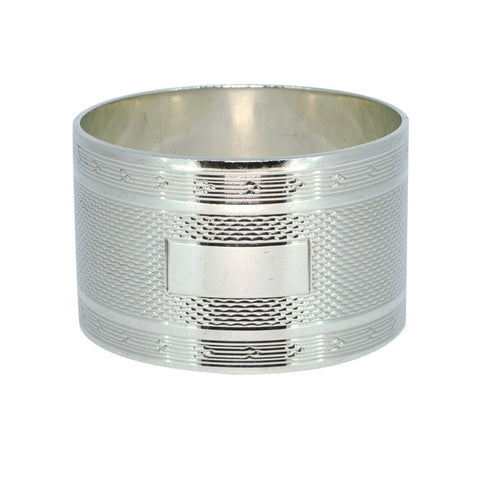 Engine Turned Silver Napkin Ring
