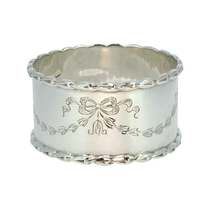 Engraved Vintage Napkin Ring