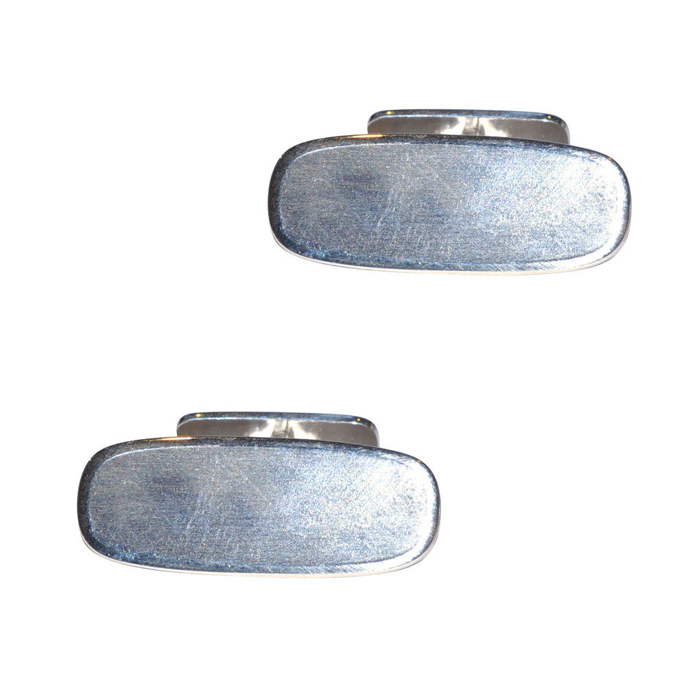 Silver Swivel Back Cuff Links