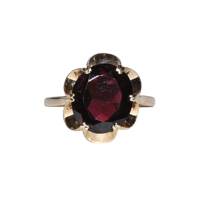 Vintage Garnet Cocktail Ring
