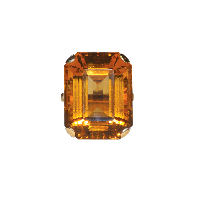 Citrine Cocktail Ring