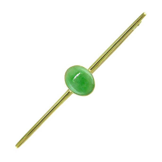 Jade Bar Brooch