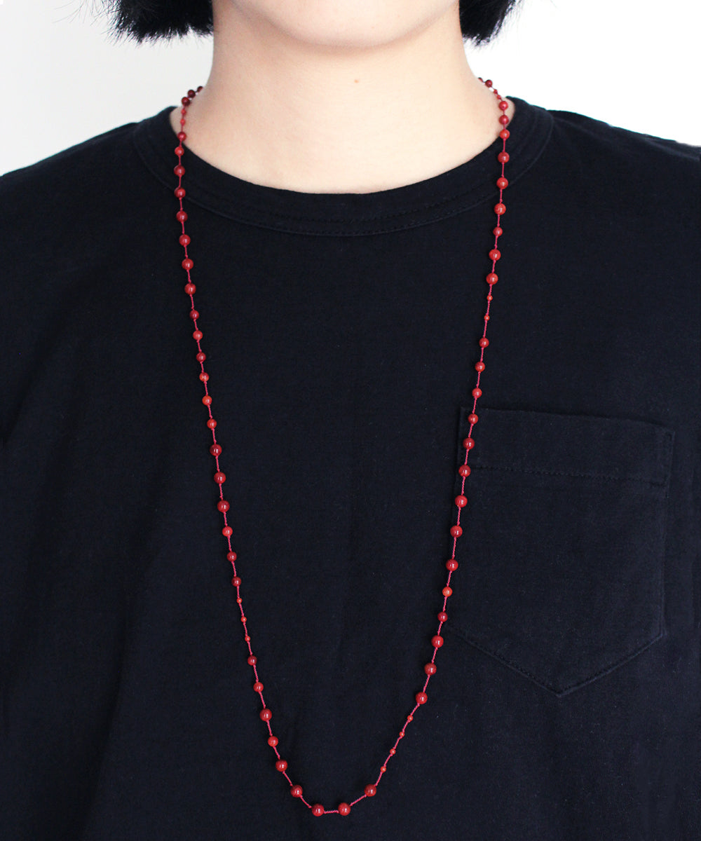 AIYANA coral long necklace