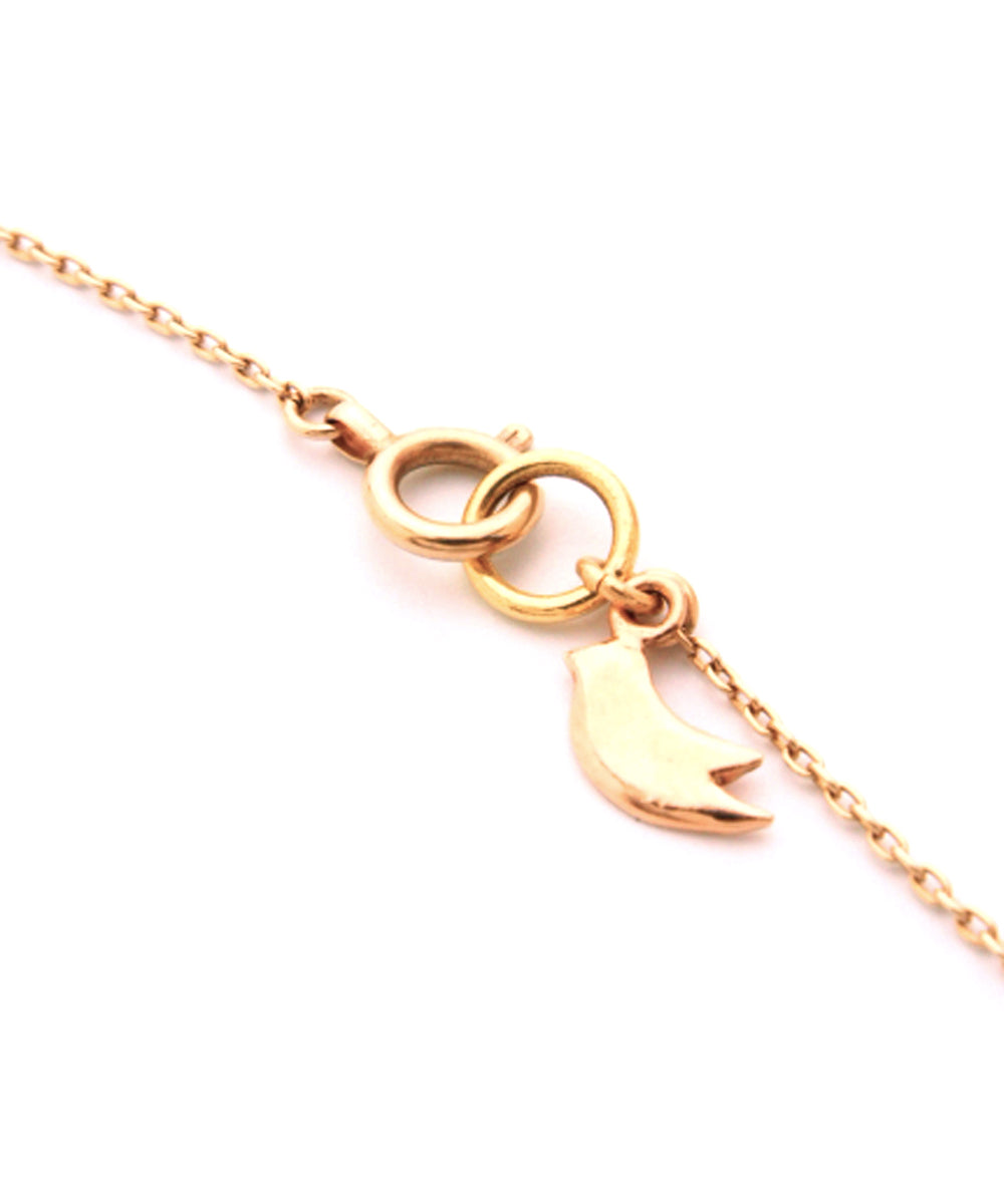 k10 gold heart necklace