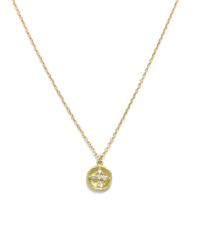 k18 diamond cross necklace