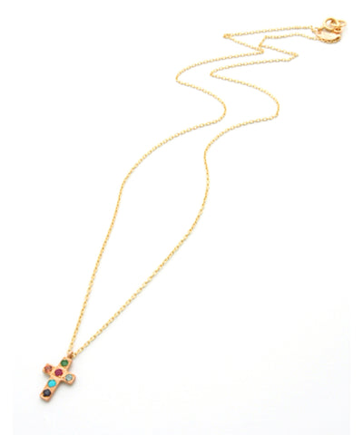 k10 multi cross necklace
