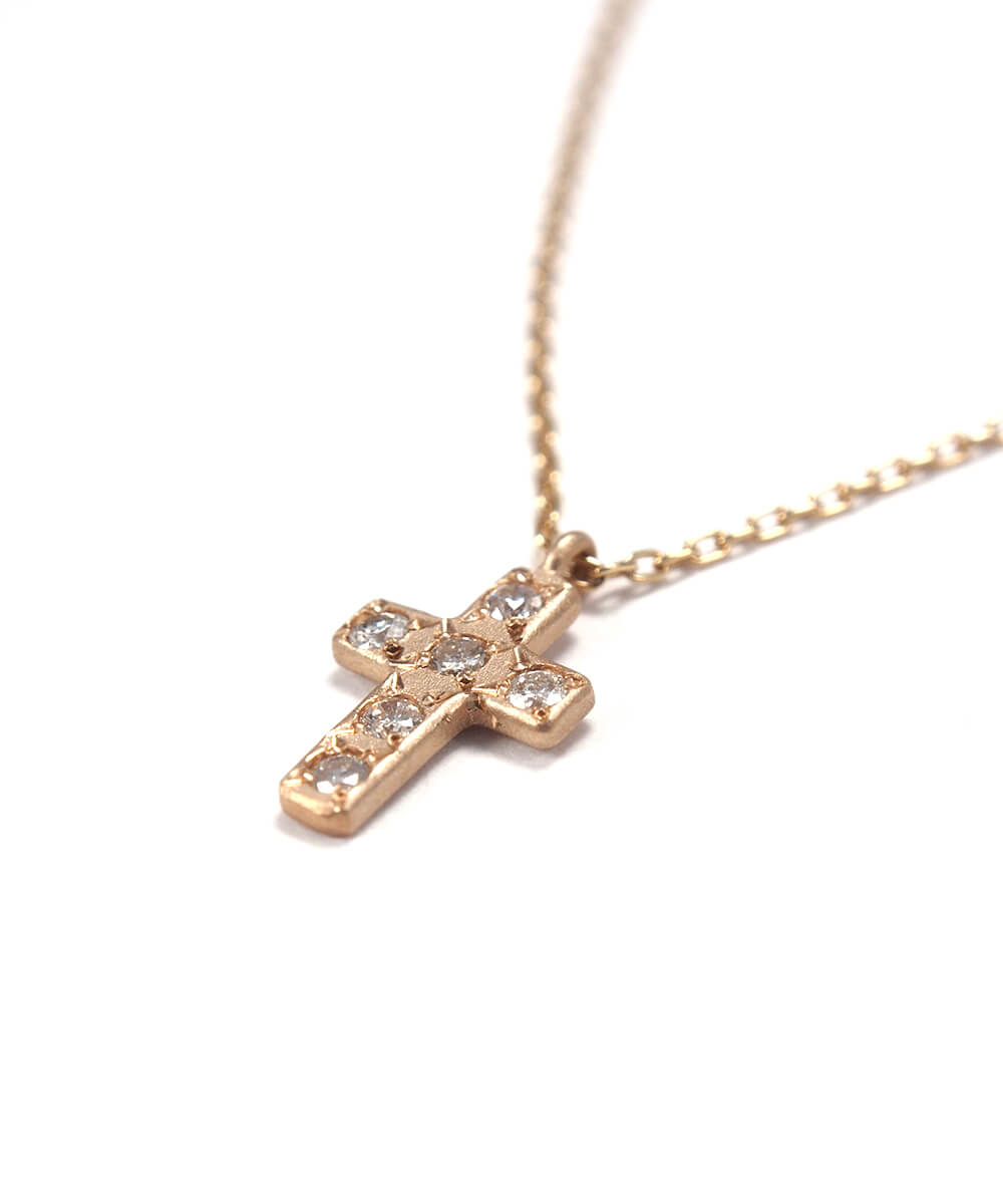 k10 diamond cross necklace