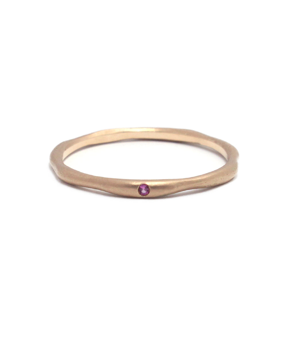 k10 pink sapphire ring