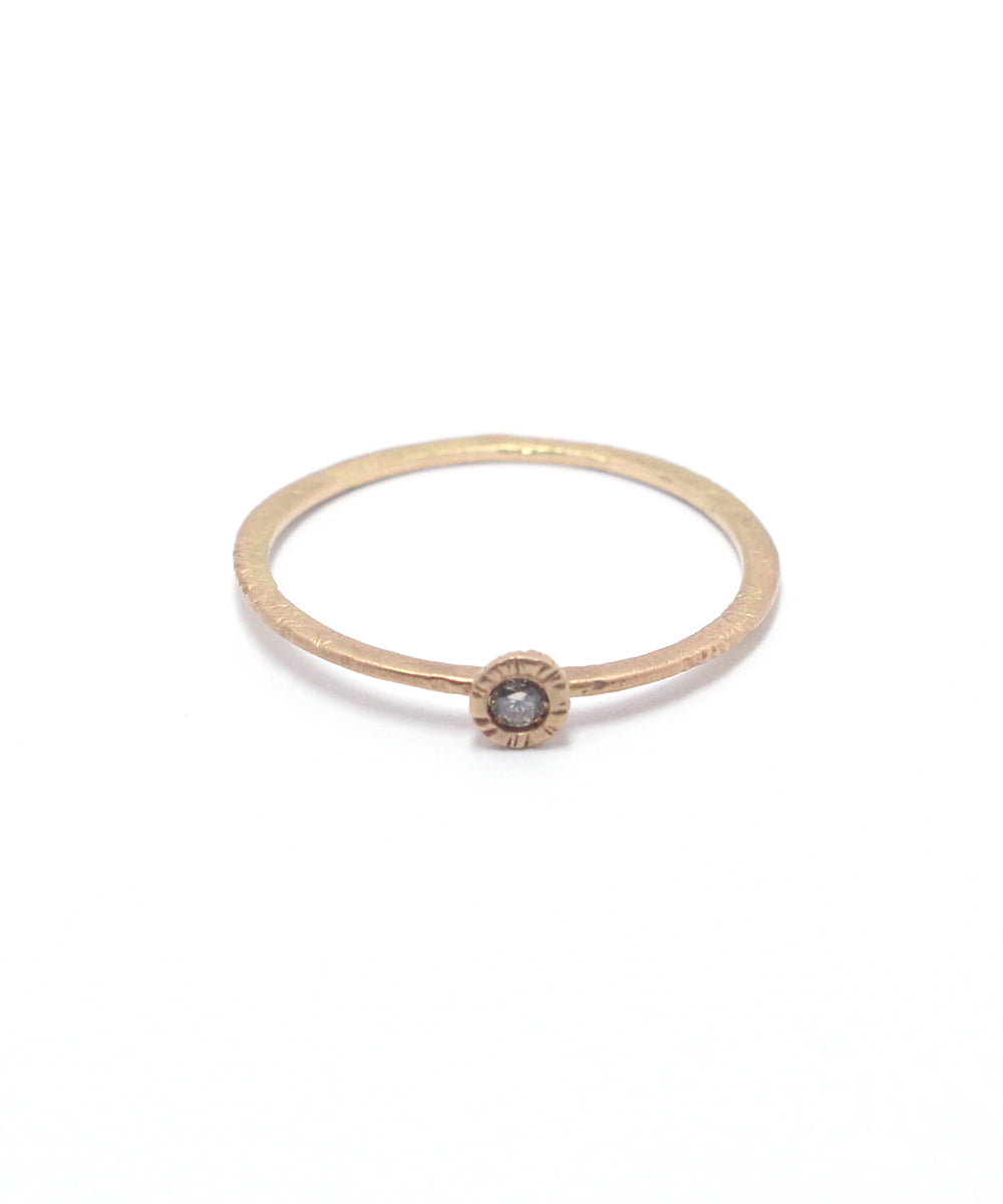 k14 brown diamond ring