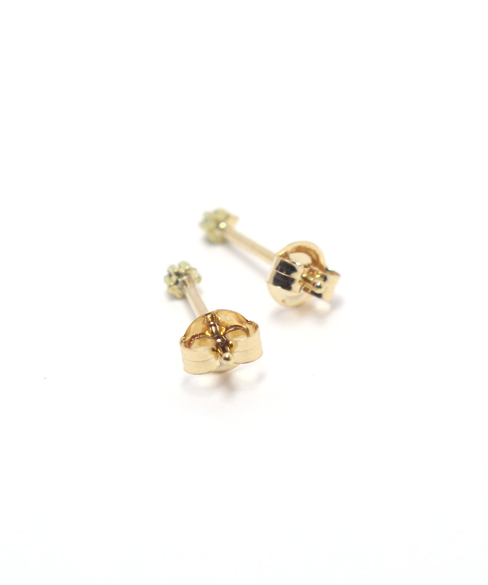 k18 black diamond snow flower pierce