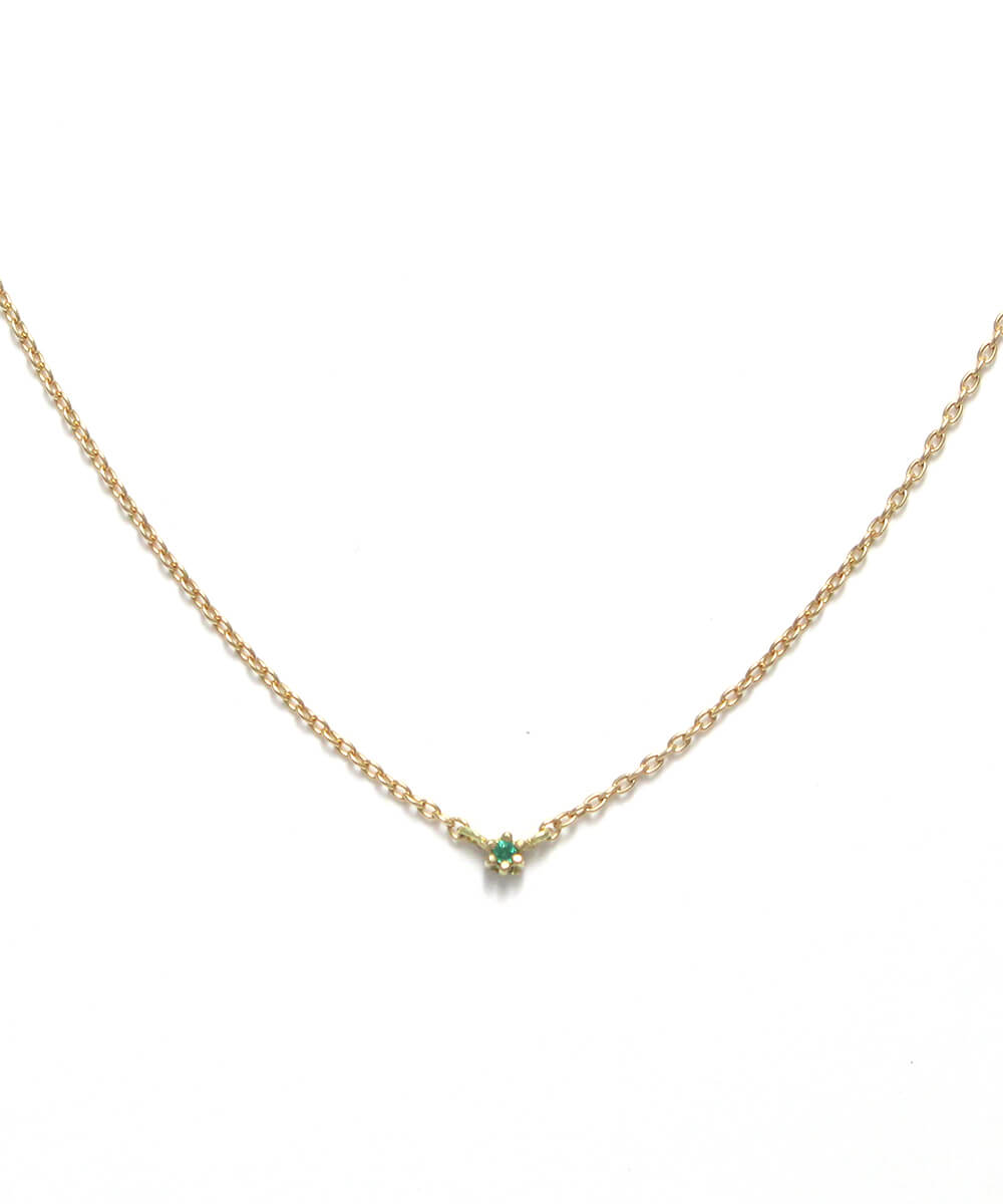snow flower necklace k18 emerald