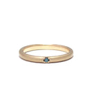 k10 gold / blue diamond ring