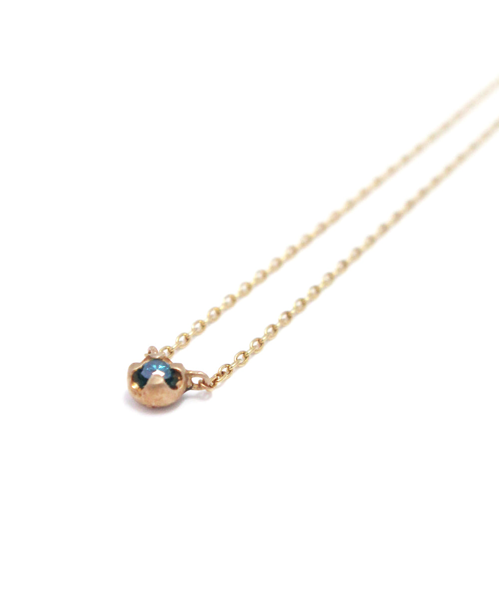 k10 gold / blue diamond necklace