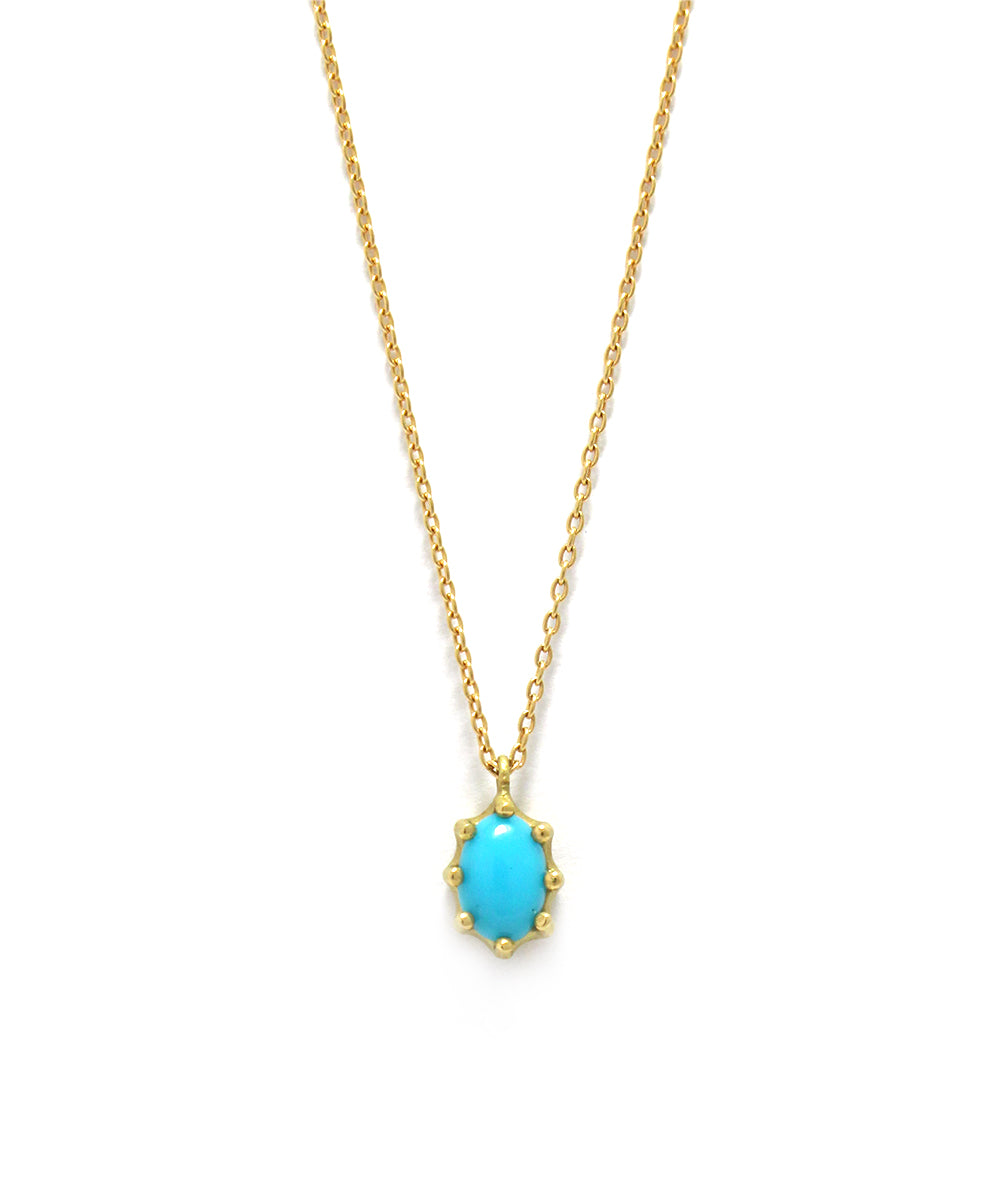 luminis necklace / k18 turquoise