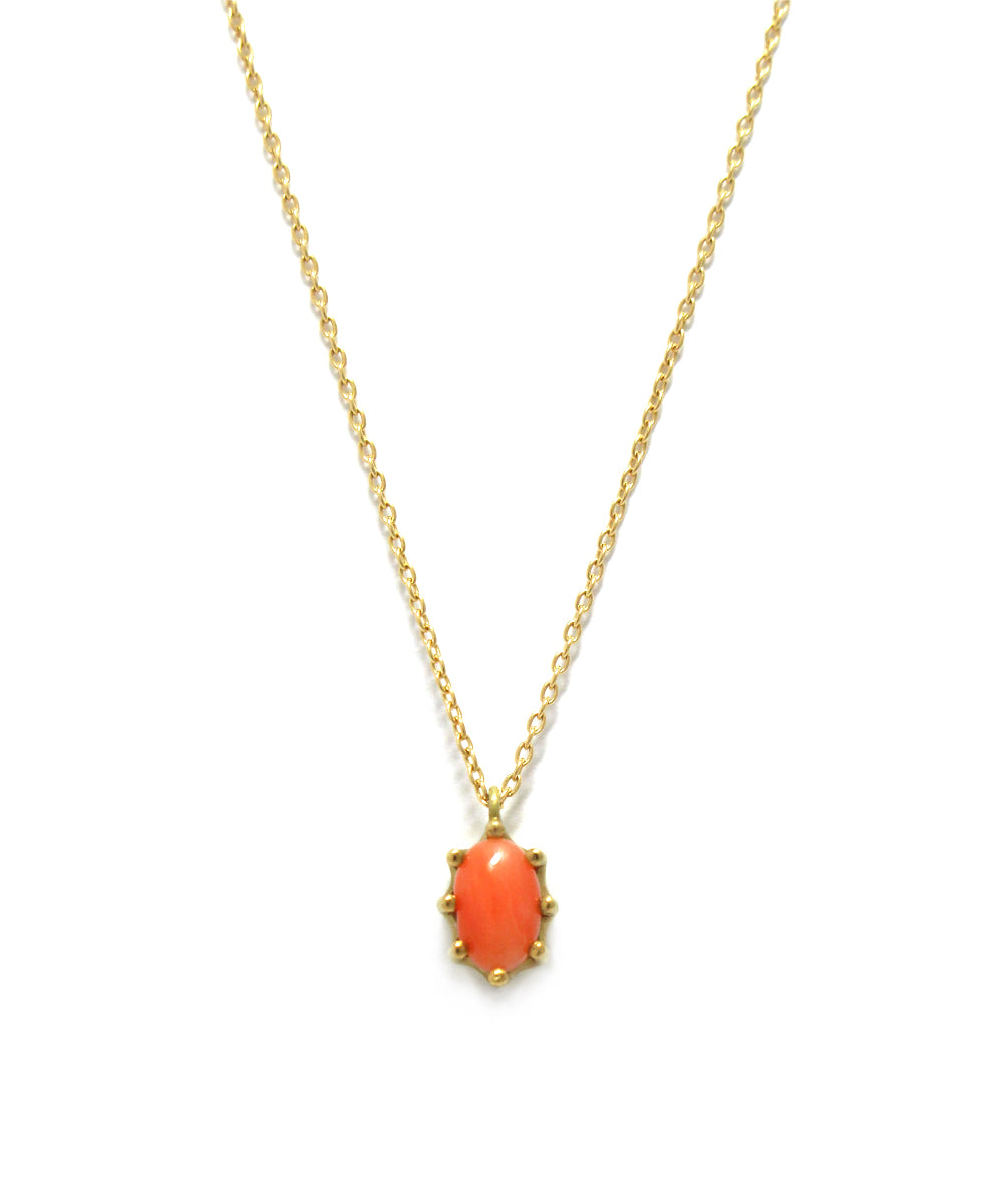 luminis necklace / k18 coral