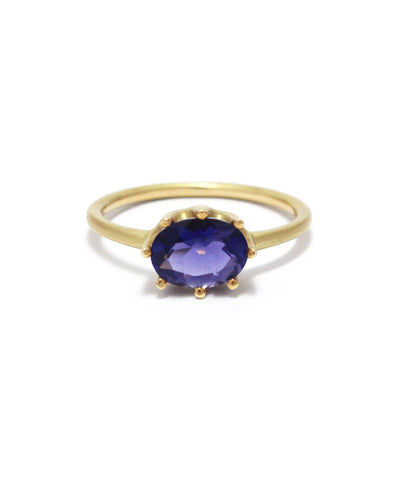 luminis ring / k18 iolite