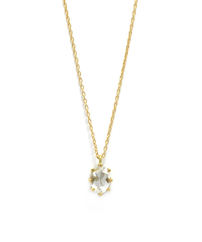 luminis necklace / k18 white topaz