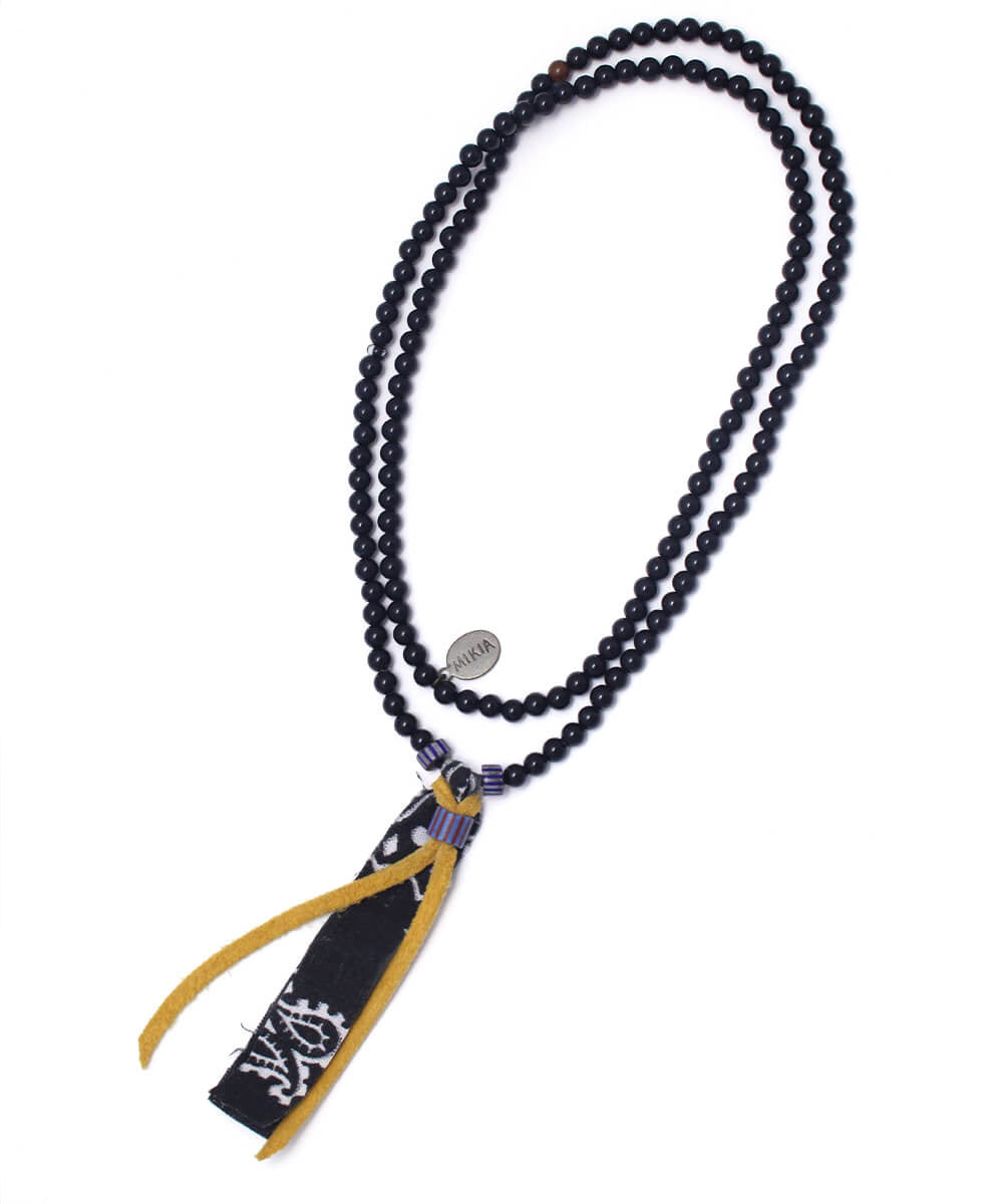 bandana necklace / onyx