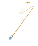 k18 round blue topaz necklace