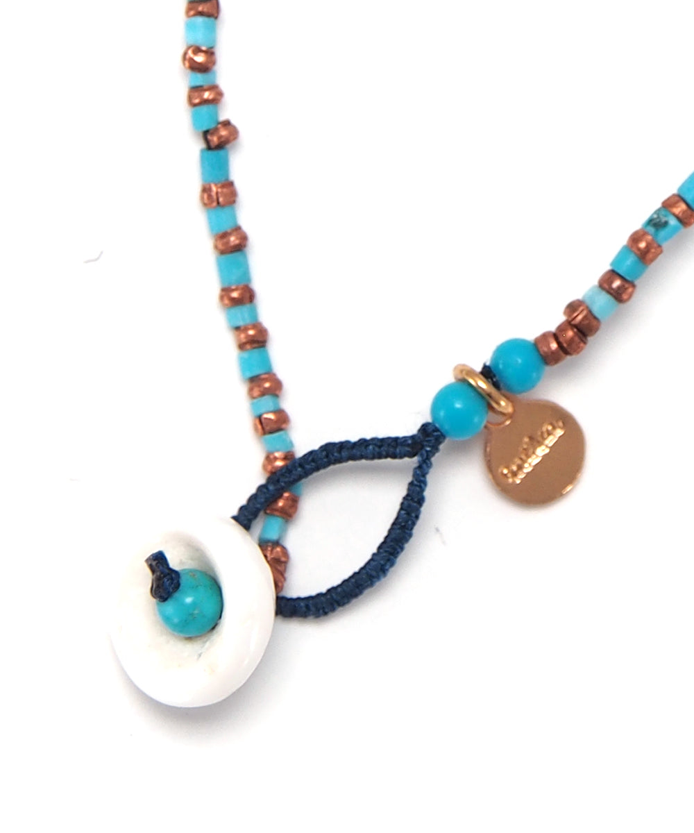 turquoise/copper beads