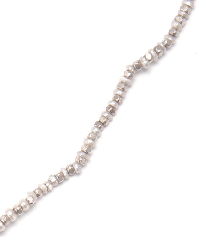 pearl/silver beads necklace