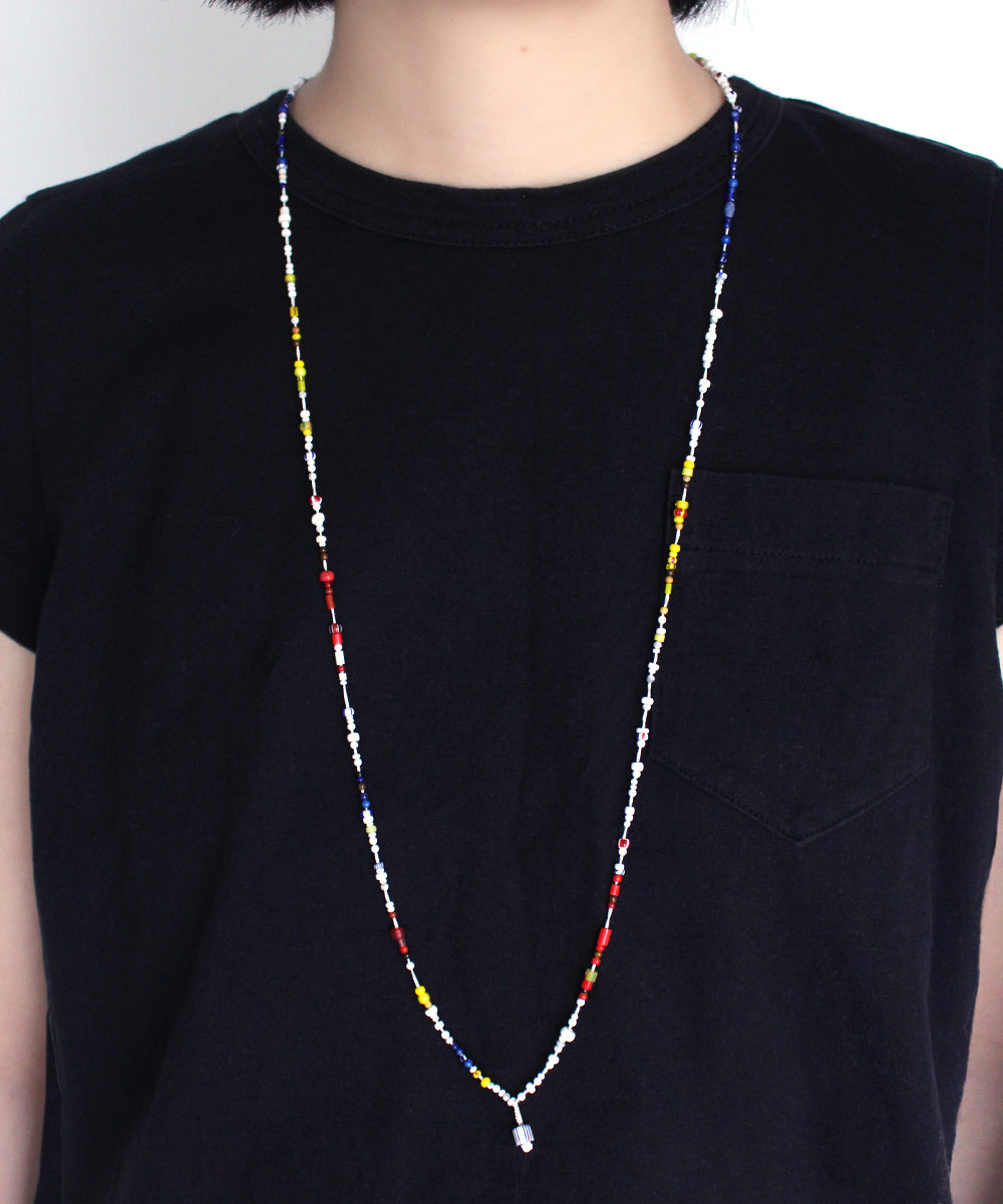 CARNIVAL howlite / multi glass necklace