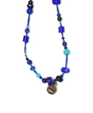 CARNIVAL lapis / blue glass necklace