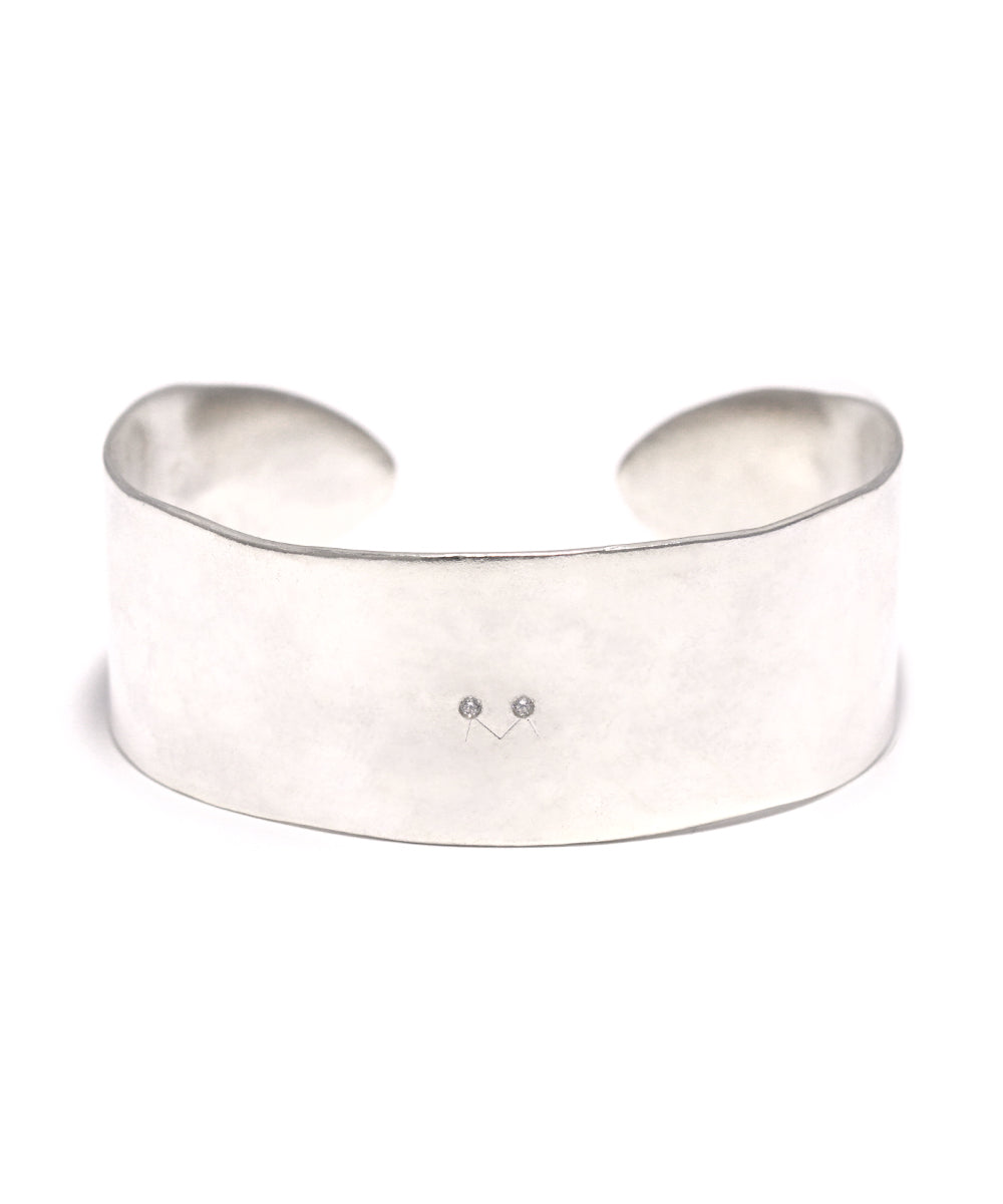 silver / cubic zirconia bangle