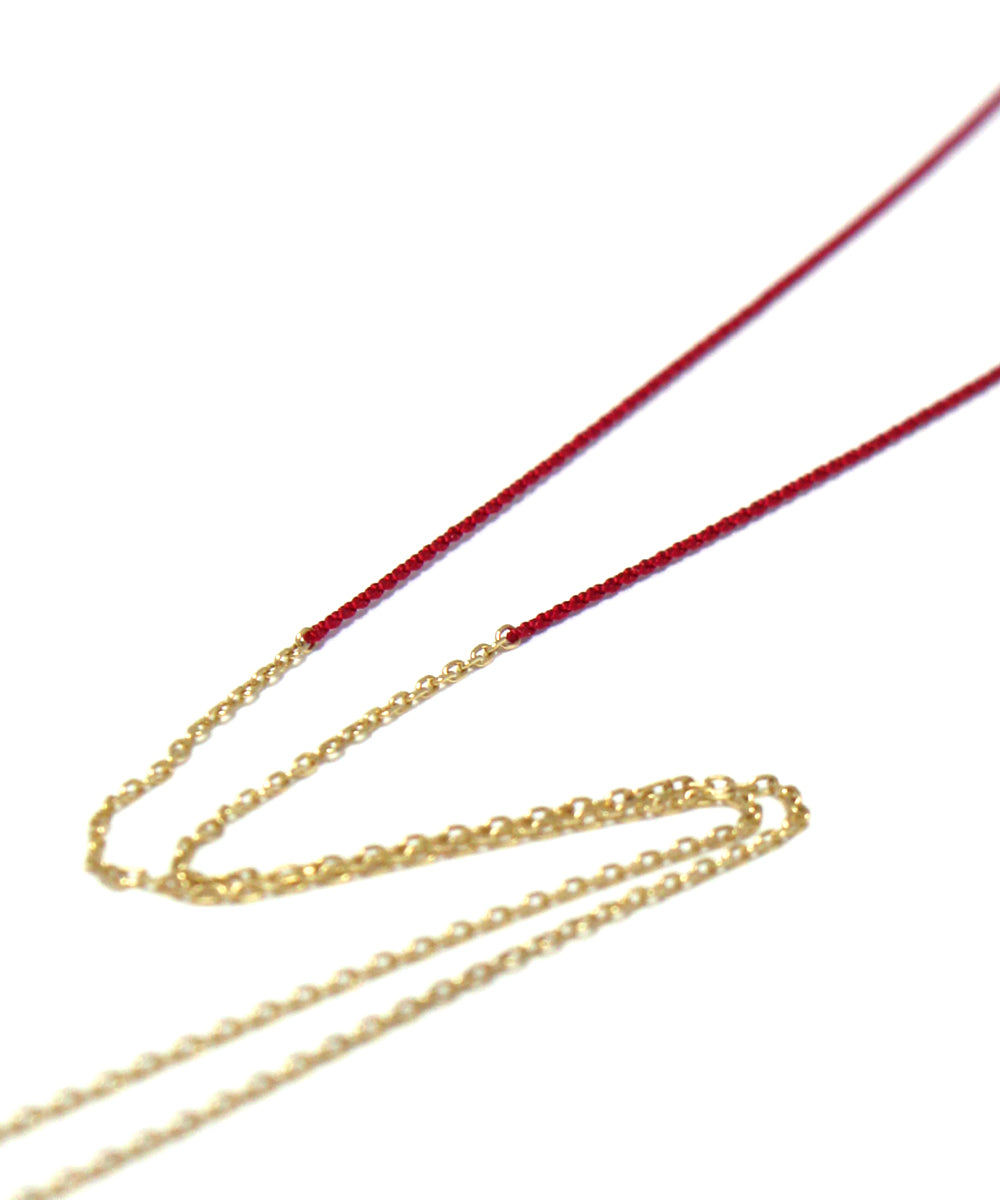 TINY CHAIN red necklace