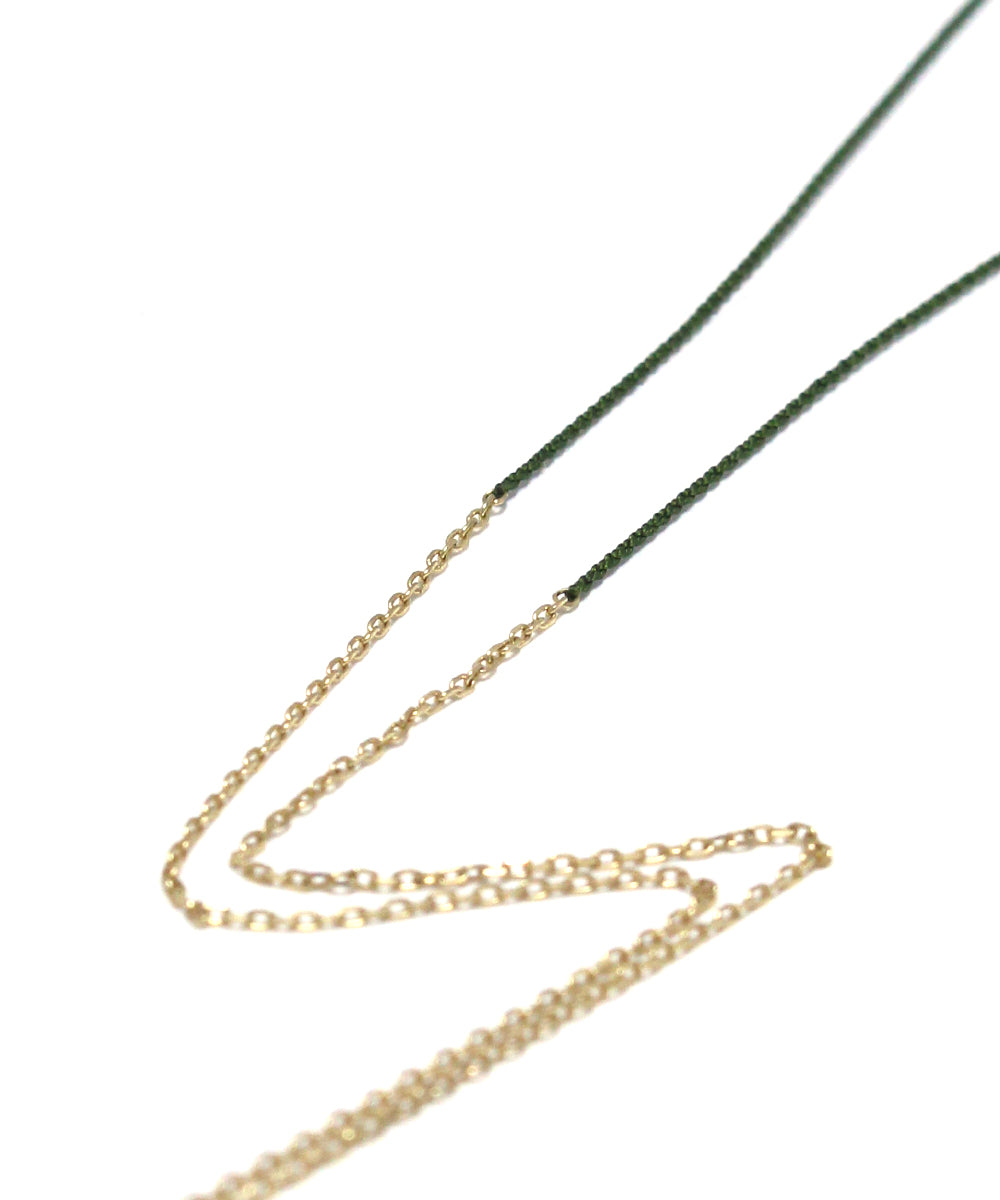 TINY CHAIN olive necklace