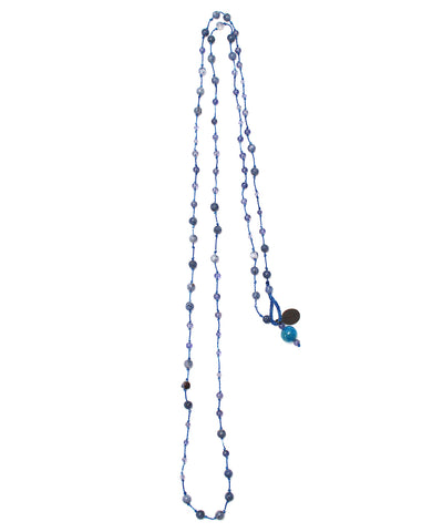 AIYANA blue coral / iolite necklace
