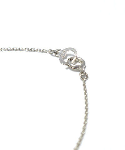 silver / freshwater pearl snake necklace