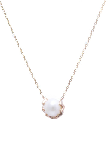 k10 gold / freshwater pearl snake necklace