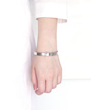 silver / cubic zirconia buckle bangle
