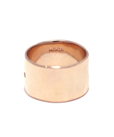 rose gold plated / cubic zirconia ring