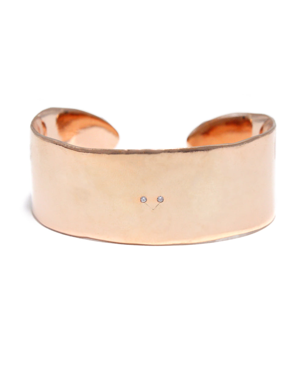 rose gold plated / cubic zirconia bangle
