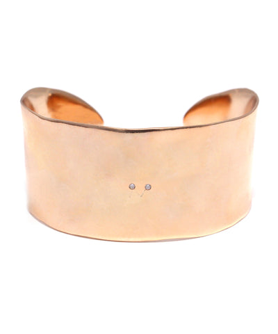 rose gold plated / cubic zirconia wide bangle
