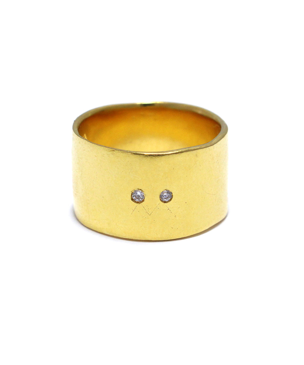 k24 yellow gold plated / cubic zirconia ring