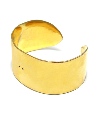 k24 yellow gold planted / cubic zirconia wide bangle