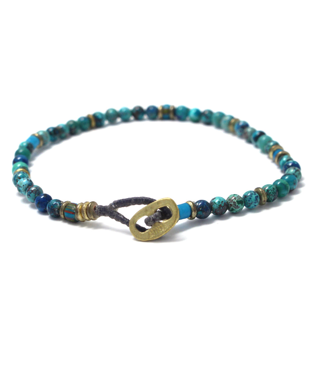 4mm chrysocolla bracelet