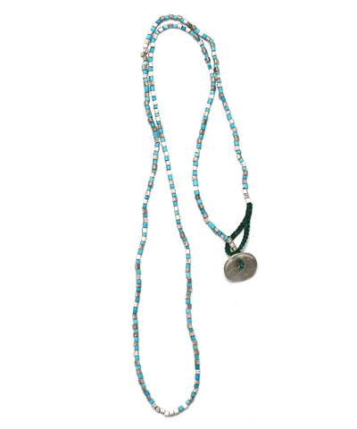 turquoise / silver necklace