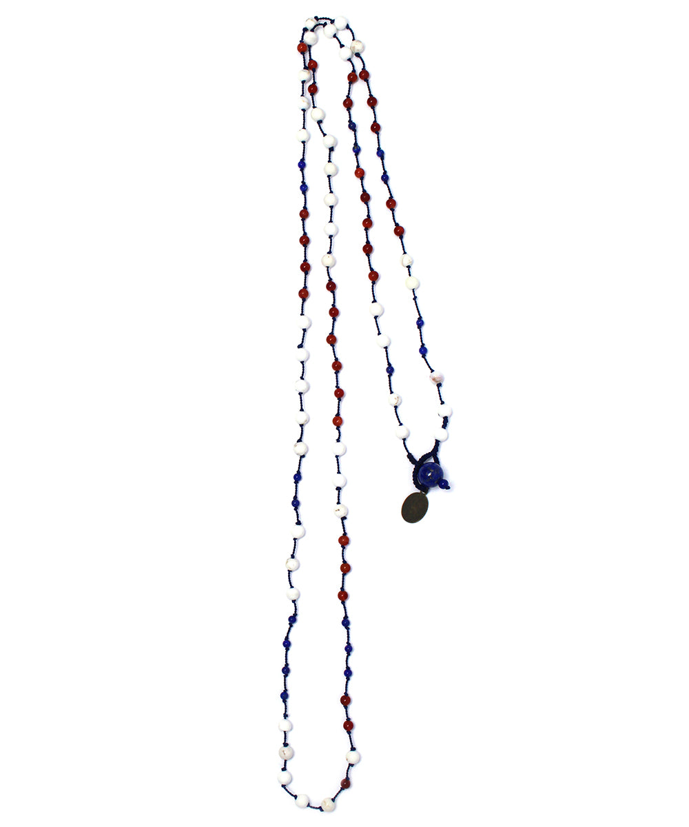 AIYANA tricolor long necklace