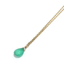 TINY CHAIN emerald necklace