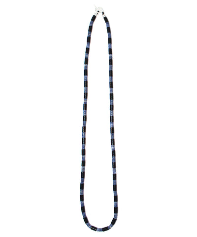 heishi blue coral / jet necklace