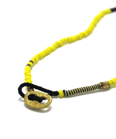 small beads necklace / yellow