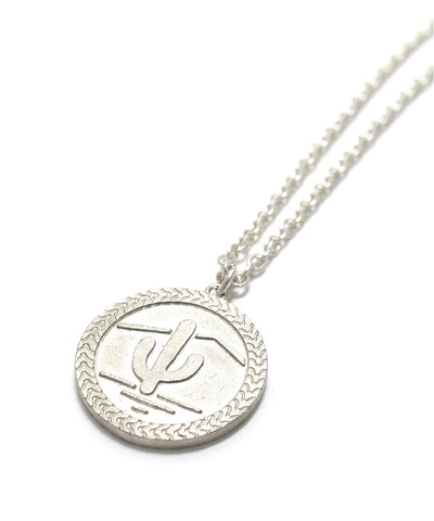 snake coin necklace / silver925
