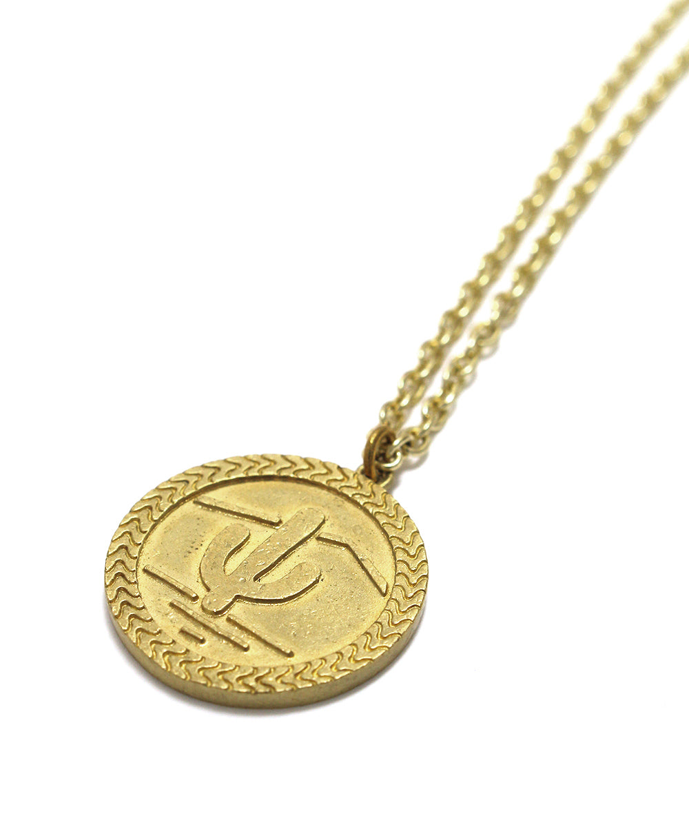 snake coin necklace / brass