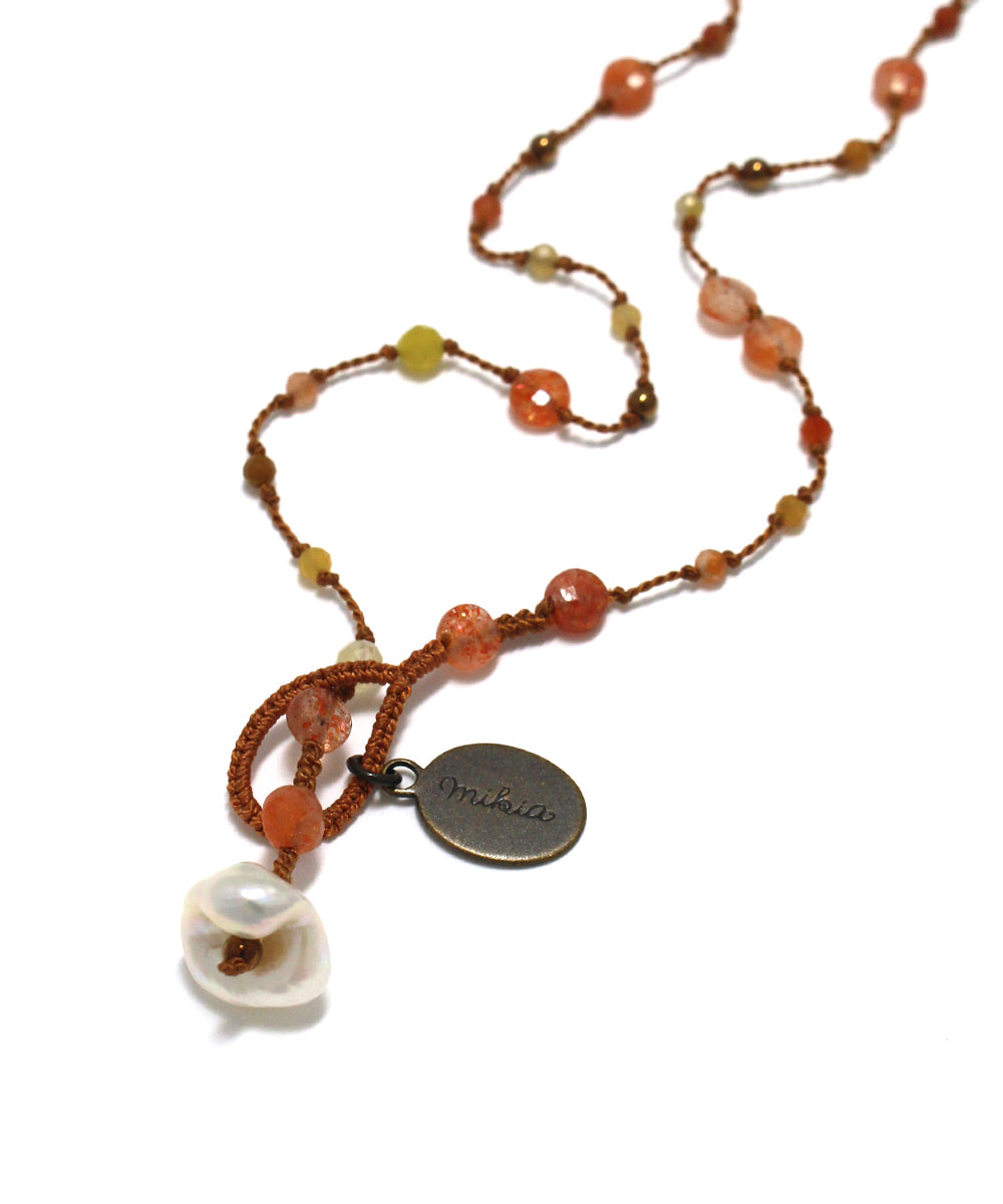 long necklace / sun stone