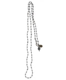 AIYANA hematite silver necklace