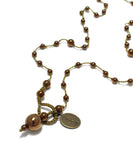 AIYANA hematite copper necklace